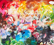 Bright oil-paint palette for background Royalty Free Stock Image