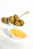 Bright olive oil background. Royalty Free Stock Image