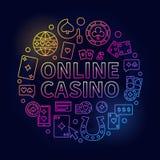 Bright online casino line illustration royalty free illustration