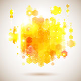 Bright and optimistic poster. Lush yellow abstract Royalty Free Stock Photography