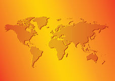 bright orange background with map of the world vector royalty free stock photo
