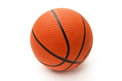 Bright orange basketball ball Stock Photos