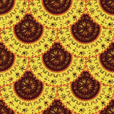 A bright orange color. Round ornaments. Symmetry. African motifs Royalty Free Stock Photography
