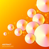 Bright orange cones abstract vector background Stock Image