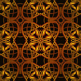 Bright Orange Fantastic Seamless Pattern with fantastic leaves i Stock Images
