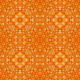 Bright Orange Fantastic Seamless Pattern with fantastic leaves i Royalty Free Stock Photo