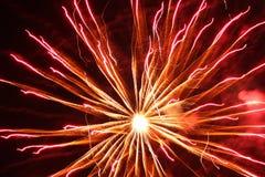 Bright orange fireworks Stock Photography