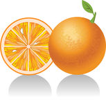 Bright orange fruit Royalty Free Stock Photography