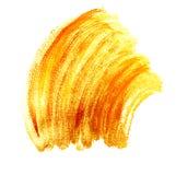 Bright orange gold paint brush strokes Royalty Free Stock Photo