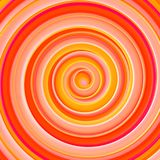 Bright orange gradient twisted spiral hypnotic shape abstract 3D Stock Photography