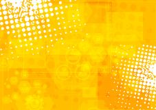 Bright orange grunge tech background Royalty Free Stock Images
