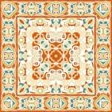 A bright orange handkerchief in Oriental style Stock Photo