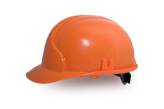 Orange hardhat Royalty Free Stock Photos