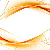 Bright orange high-tech swoosh wave background Stock Image