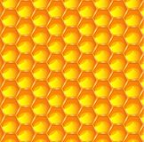 Bright orange honeycomb abstract pattern background. Hexagonal prismatic wax cells eps 10 illustration. Bright orange honeycomb abstract pattern background Vector Illustration