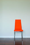 Bright orange leather chair Royalty Free Stock Photos