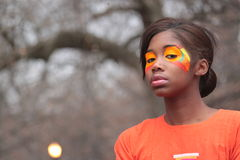 Bright Orange Make-up Stock Image