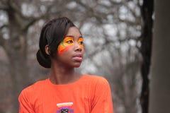 Bright Orange Make-up Stock Photos