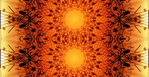 Reflection | Bright orange mandala Art royalty free stock images
