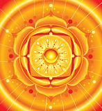 Bright orange mandala of svadhisthana chakra Royalty Free Stock Images