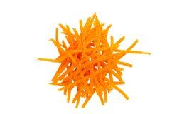 Bright orange peel isolated on white background royalty free stock photography