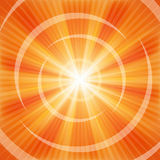 Bright Orange rays. Illustration for your design Royalty Free Stock Images