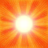 Bright Orange rays royalty free stock photography