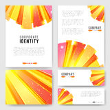 Bright orange red Identity-1 Royalty Free Stock Images