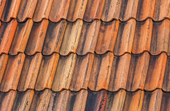 Bright orange roof tiling Royalty Free Stock Photography