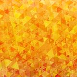 Bright orange scattered triangles background Royalty Free Stock Image
