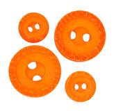 Bright orange sewing buttons Royalty Free Stock Images