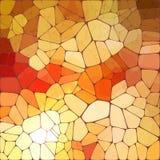 Bright orange shining vector mosaic Royalty Free Stock Image