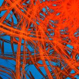Bright orange on sky background Royalty Free Stock Image