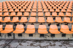 Bright orange stadium seats, sport Royalty Free Stock Image