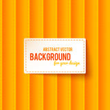 Bright orange stripes abstract background Stock Image