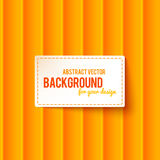 Bright orange stripes background with label Royalty Free Stock Image