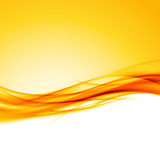 Bright orange swoosh wave border background. Modern futuristic abstract layout. Vector illustration Stock Photography