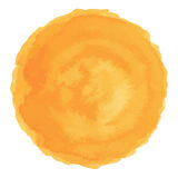 Bright orange watercolor painted vector stain. Isolated on white background Royalty Free Stock Photos