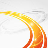 Bright orange wave folder abstraction Royalty Free Stock Photography