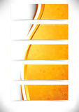 Bright orange waves headers footers collection Stock Images