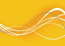 Bright orange wavy lines. Bright orange and white wavy lines on orange background Royalty Free Stock Images
