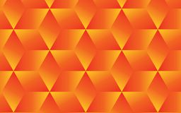 Bright orange and yellow abstract geometric background for your creative design ideas. 3D transparent orange and yellow cubes organized in a pattern within Royalty Free Stock Image