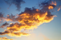 Bright orange and yellow colors sky Royalty Free Stock Photos