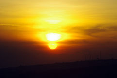 Bright Orange and Yellow Sunrise Royalty Free Stock Photos