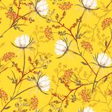 Bright oriental Seamless pattern of white soft and graceful blo stock illustration