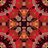 Bright ornament for ceramic tile or carpet in oriental style stock illustration