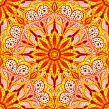 Bright ornament in east stle. Seamless background of circular patterns. Vector illustration Stock Photos