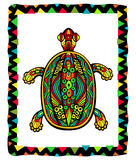 Bright Ornate Turtle Stock Images
