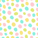 Bright paint drops. Vector hand drawn seamless pattern Royalty Free Stock Images
