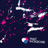 Bright Paint Stains. Abstract Vector Background Stock Photos
